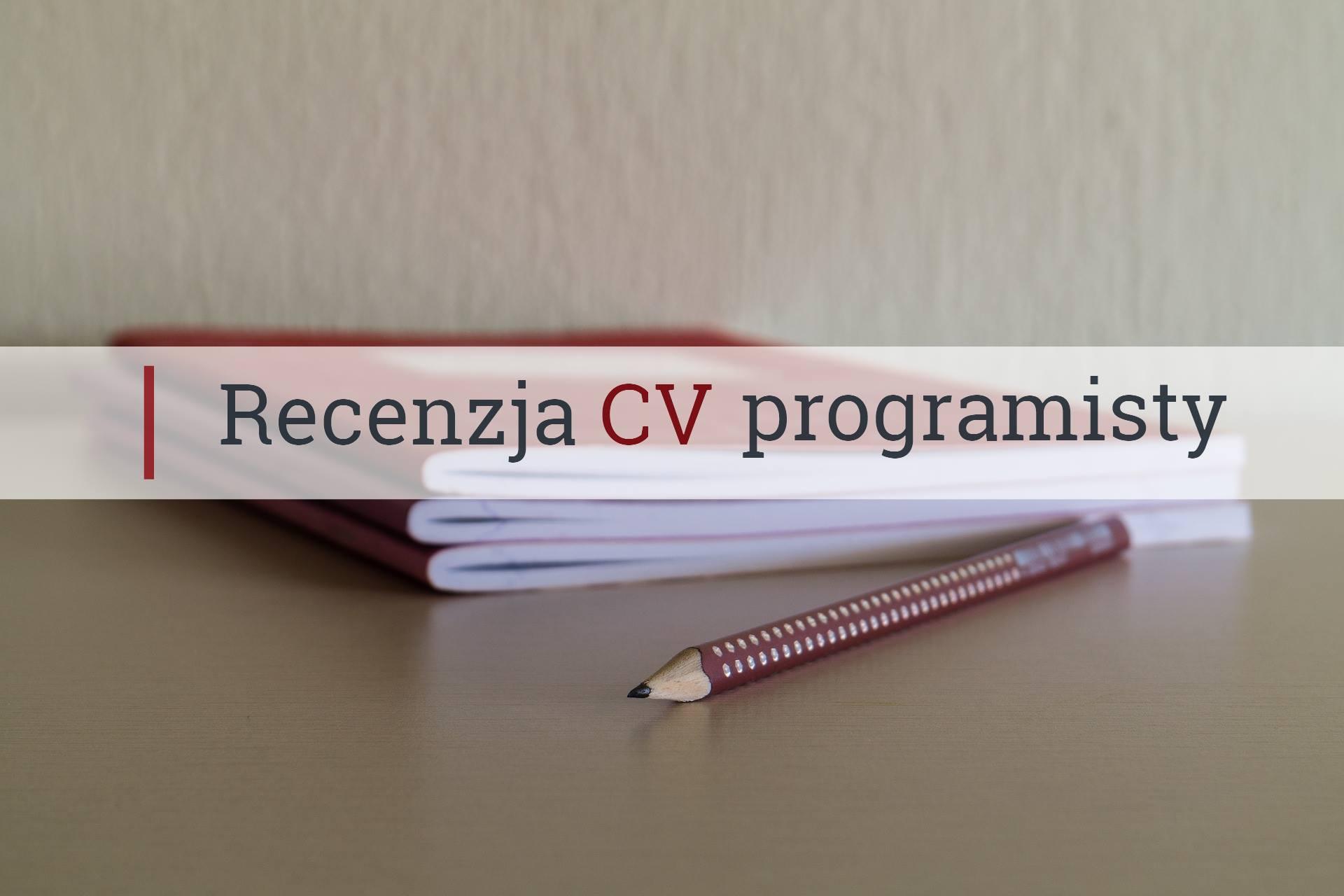 Recenzja Cv Młodego Programisty Devstylepl