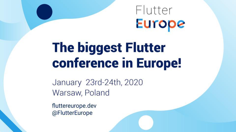 Flutter Europe banner